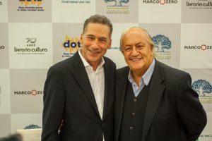 William Ury e Fernando Eimelek, diretor-presidente da Playcorp. (foto: Wesley Diego Emes)