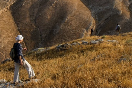A hiker in Ajloun region, Jordan - photo credit: David Landis/API