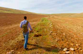 Ömer Tanık walking along the Abraham Path. The hiking route utilises the shepherding and farming trails that local villages have used for centuries.